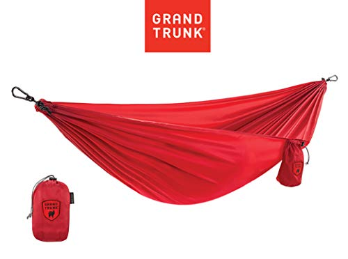 Grand Trunk Ultralight Hammock |Starter Hammock | Portable Camping, Hiking, Backpacking, and Travel Hammock (Red)