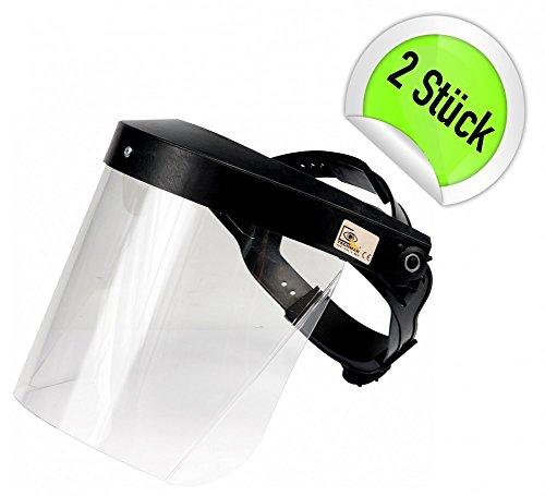 2 Stück Profi Schutzmaske Gesichtsschutz Visier Gesichtsschutzschirm Augenschutz