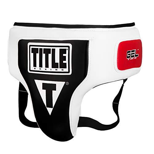 Title Gel Elite Groin & Ab Protector, White/Black, Large