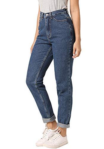ruisin High Waist Boyfriend Jeans for Women Vintage Sexy Mom Jeans Denim Pants Blue 31 x L30