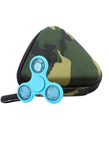 Price comparison product image Sunward Gift For Fidget Hand Spinner Triangle Finger Toy Bag Box Carry Case Packet(Without Fidget Cube) (camouflage)