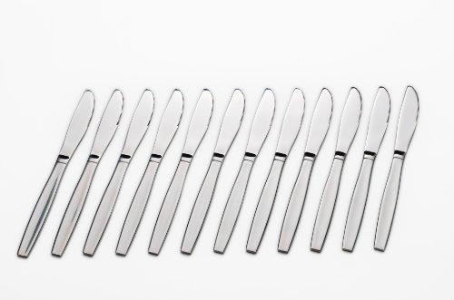 GRÄWE® 12 Stück Menümesser Tafelmesser aus Edelstahl