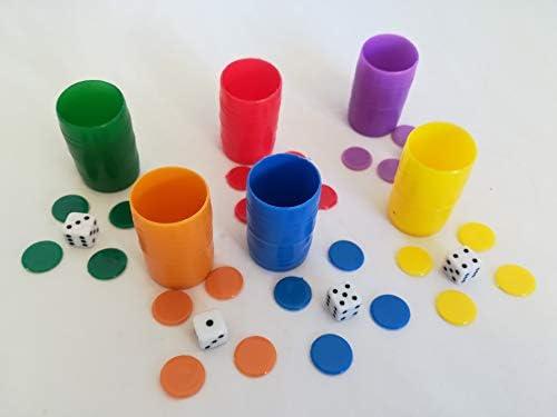LCQI Fichas Parchís Colores 6 Jugadores: Amazon.es: Juguetes y juegos