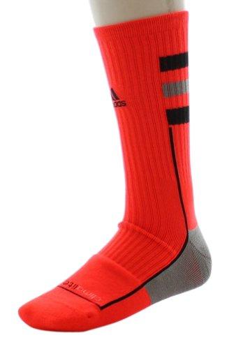 Price comparison product image New Adidas 5126353 Team Speed Crew Socks Large Multi-Sport Neon Orange / Black