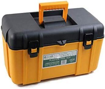 Dong-WW 工具箱 好適について家庭屋外修復工具収納ボックス、PPマルチファンクション17インチサイズ46 * 24 * 22.5センチ(色:黄、サイズ:43 * 24 * 22.5センチ)