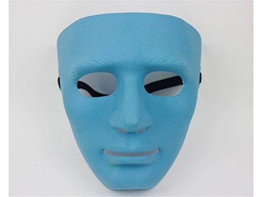 Face mask Shield Veil Guard Screen Domino False Front Bboy mask Thick Street Dance mask Jabbawockeez mask Dancer Dance Performance Ghost Dance Blue