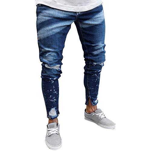 yoyorule Casual Summer Pants Mens New Paint Zipper ...