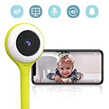 Lollipop HD WiFi Video Baby Monitor (Pistachio)- Supports 2 Cameras and Up, Night Vision, Noise & Crying Detection, 2-Way Talk Back, Wall Mount Included- Baby Boy Girl Shower Gift US