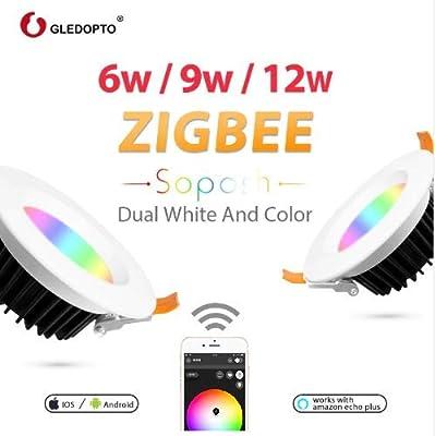K2 Home Tech - GLEDOPTO ZIGBEE ZLL Smart LED RGB WW/CW Downlight CAN Light 12w- 6 inch can retrofit 16 Million Color and Cool/Warm White Light
