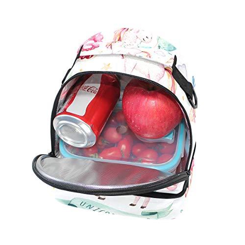 pour Sangle World à pique déjeuner Unicorn nique Sac Cooler épaule réglable double qUwHzz