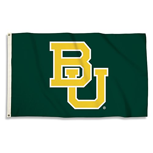 NCAA Baylor Bears 3 X 5 Foot Flag with Grommets, Green,