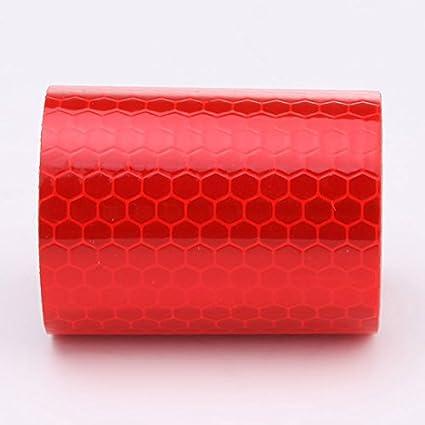 Sedeta® rouge 3M réfléchissant sur la sécurité Avertissement Ruban Conspicuity Rouleau de ruban adhésif Film autocollant de voiture Réflecteurs de camions