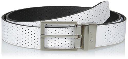 Nike Black Belt (Nike Men's Perforated Reversible One Size Belt, White/black, One)