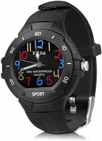 116 Kids Watch 30M Waterproof ,Children Cartoon Wristwatch Child Silicone Wrist Watches Gift for Boys Girls Little Child – PerSuper (Black)