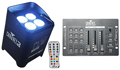 Package: Chauvet DJ Freedom Par Hex 4 Wireless DMX LED Wash/Up-Light With Built in Battery and D-Fi Wireless Transceiver + Chauvet DJ Obey 3 Universal Dmx 512 Controller With 3 Channels