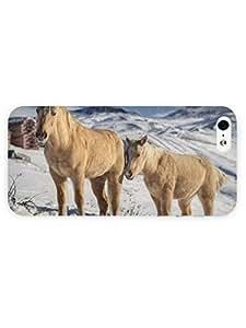 3d Full Wrap Case for iPhone 5/5s Animal Beige Horses