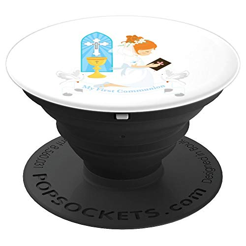 First Communion Gift Party Favor Girls Daughter Girl Redhead - PopSockets Grip and Stand for Phones and Tablets