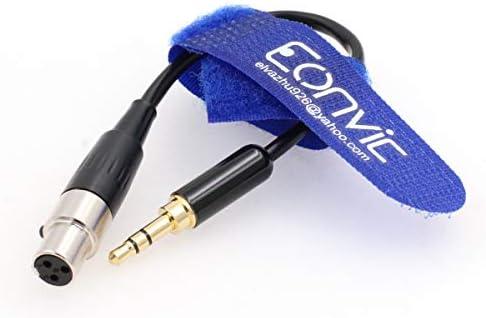Eonvic 3,5 mm TRS-Stecker auf 3-polige Mini-XLR-Buchse, Audiokabel für AKG-Kopfhörer, 30 cm 15cm/6''inch