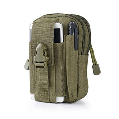 CHEEFULL Universal Multipurpose Taktische Tasche Gürtel Taille Pack Tasche Military Taille Fanny Pack Telefon Tasche Gadget Geld Tasche (Grün)