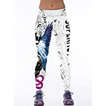 Raisevern Womens 3d Digital Printed Active Yoga Pants Workout Leggings Stretch Tights
