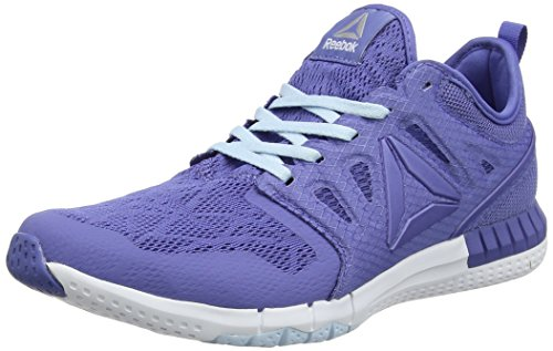 Reebok WoMen Zprint 3D Running Shoes Pink (Lilac Shadow/Fresh Blue/White/Pewter)