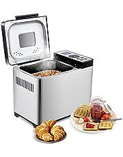COSTWAY broodbakmachine, 19 programma's, 650 W, 500-1000 g broodgewicht, 15 uur timing, broodbakmachine, roestvrij staal