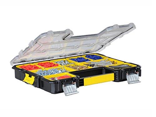 Stanley FatMax Werkzeug-Profi-Organizer (44,6 x 7,4 x 35,7 cm, Organizer mit herausnehmbaren Boxen und Metallschließ en, wasserdicht, stabiler Koffer mit flachen Fä chern) 1-97-517 BLAMT