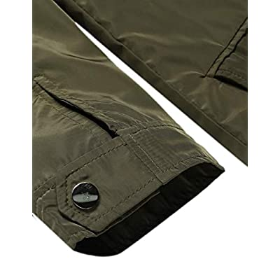 Zeagoo Women's Classic Solid Striped Biker Jacket Zip Up Fashion Bomber Jacket Coat at Women's Coats Shop