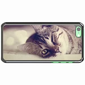 iPhone 5C Black Hardshell Case wink glance Desin Images Protector Back Cover