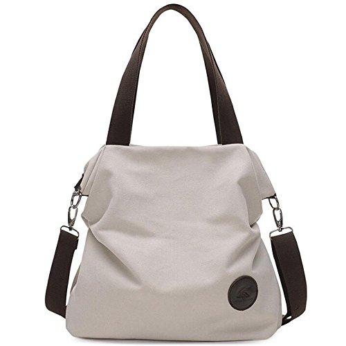 6bfd754115ef0 Simple Style Women s Handbag Canvas Shoulder Crossbody Bag Hobo Purse Large  Casual Bag (Beige)