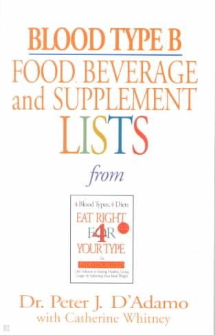 Blood Type B Food, Beverage, And Supplemental Lists