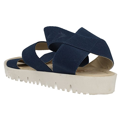 Ladies Down To Earth Sandals Navy lh8WBQnfDb