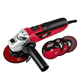 4-1/2-Inch Angle Grinder 6.0-Amp with 3 Abrasive Wheels (Cutting Wheel