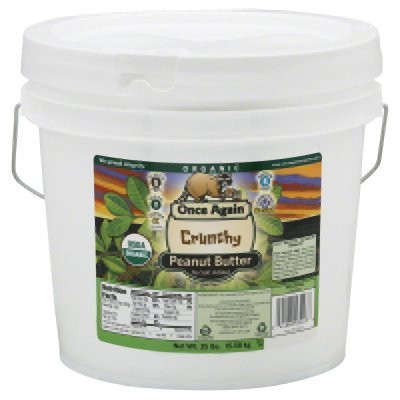 Once Again Organic Crunchy Peanut Butter, 35 Pound -- 1 each. by Once Again Nut Butter