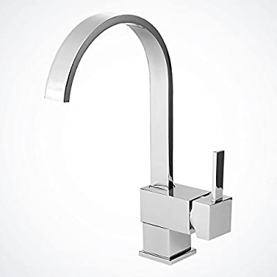"New 12 ½"" Chrome Kitchen Bathroom Faucet Vessel Sink Basin Wet Bar Swivel Spout"