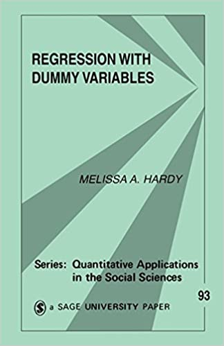 Book Regression with Dummy Variables (Quantitative Applications in the Social Sciences) by Melissa A Hardy (1993-02-25)