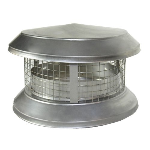 Shasta Vent 8A-CD 8 in. All - Fuel HT Chimney & Deluxe Rain Cap (Double Chimney Cap compare prices)