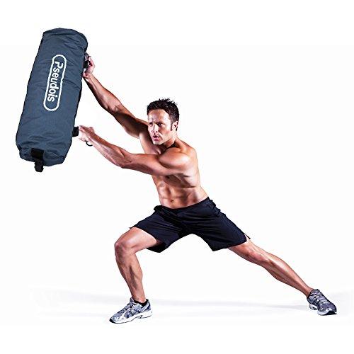 Pseudois Workout Sandbags Sandbag Trainning For Fitness, Exercise Sandbags, Military Sandbags, Weighted Bags, Heavy Sand Bags (blue)