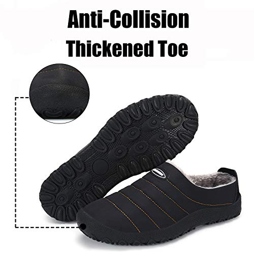 d37d794ec Cozy Memory Foam Slippers Warm Fur Lined House Shoes Indoor Outdoor  Anti-Skid Rubber Sole