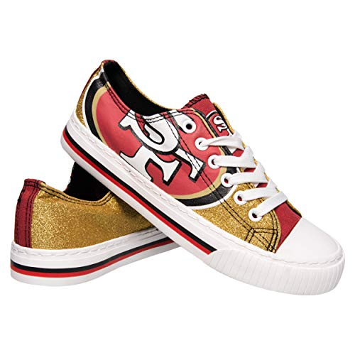 d3709da9132bd8 FOCO NFL San Francisco 49Ers Womens Glitter Low Top Canvas Shoesglitter Low  Top .