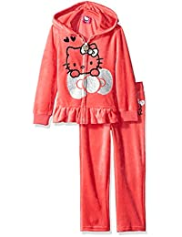 Hello Kitty girls Ruffle Detail Acitve Set With Large Sparkle Glitter Print