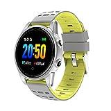 HHmei Smart Watch Sports Fitness Calorie Heart Rate Tracker Pedometer Watch IP67 R13 Smart Watch (Yellow)