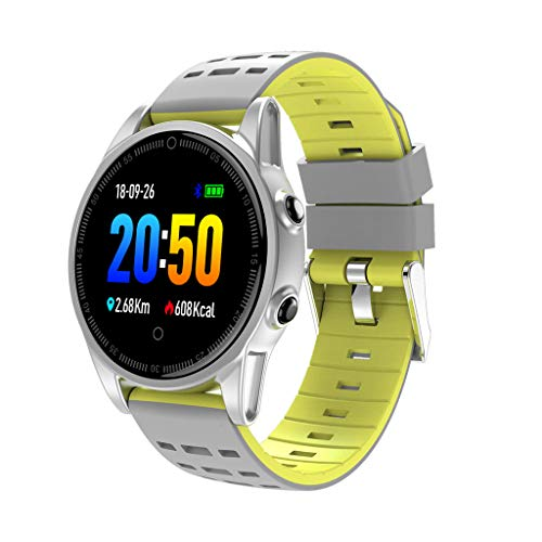 FEDULK Smart Watch Sports Fitness Calorie Heart Rate Tracker Bluetooth Smart Wrist Watch for iOS and Android(Yellow) ()