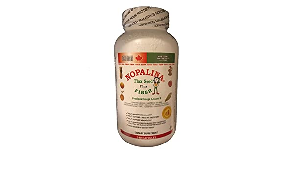 Amazon.com: Nopalina Flax Seed Plus Capsules 240 Capsules by Nopalina: Health & Personal Care