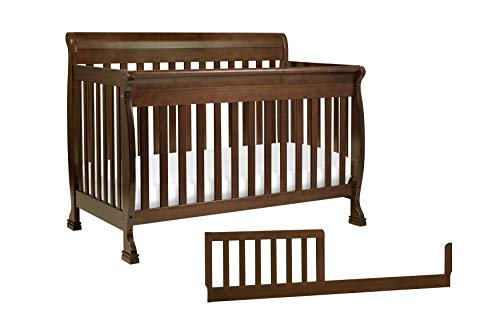 DaVinci Kalani 4-in-1 Convertible Crib with Toddler Bed Conversion Kit, Espresso