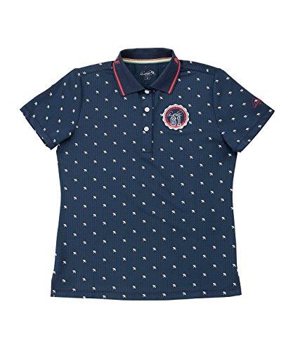 アーノルドパーマー レディース ゴルフ ポロシャツ 半袖 飛び柄半袖シャツ AP220301H05 NV L