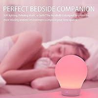 Divoom AuraBulb/WE – lamp met bluetooth (USB, 3,5 mm, 5 verschillende lichteffecten) wit