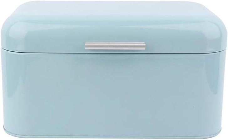 Caja de metal para pan de estilo vintage, organizador de pan, caja de almacenamiento de pan, color sólido, diseño retro: Amazon.es: Hogar