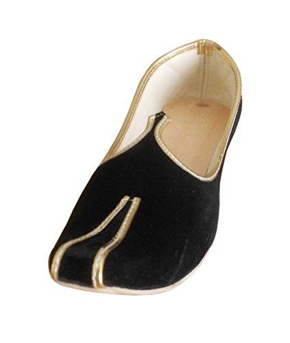 Kalra Tradizionale Giacca Black Velluto Sposo Creations Indiana Scarpe rOArR