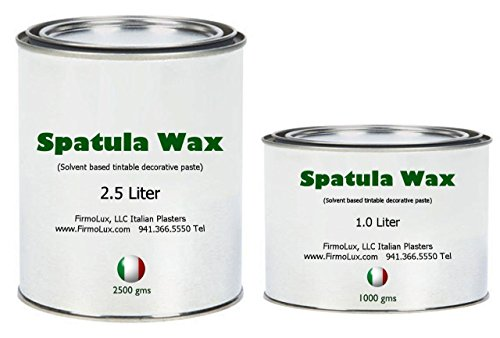 Venetian Plaster Faux Finish (Spatula Wax (2.5 liters) is a solvent based decorative wax for wall and ceiling Venetian Plaster or Faux finishes. Add contrast and luster to your walls or ceilings)